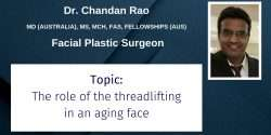 Dr. Chandan Rao, CBAM, Plastic Surgeon, Threadlift, Thread lift