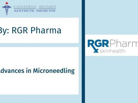 RGR Pharma, CBAM, microneedling, aesthetic courses, botox and filler, PRP