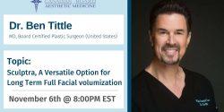 Dr. Ben Tittle, CBAM, Webinar, Aesthetic Gynecology, G spot augmentation, laser and prp