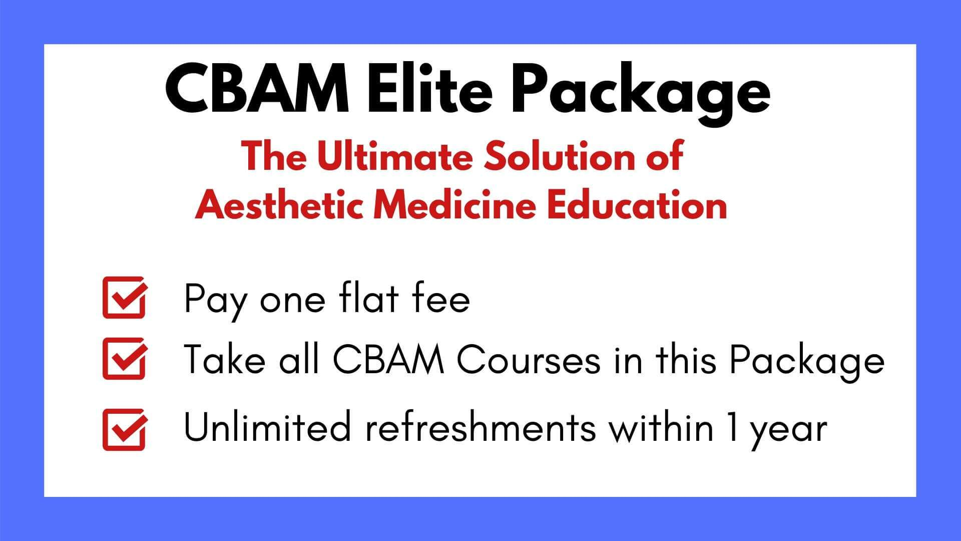 Elite package, Facial Anatomy Cadaver Lab, Botox and filler course, Advanced botox and filler course, Master injector, Skin treatments, Chemical peel course, botox and filler training