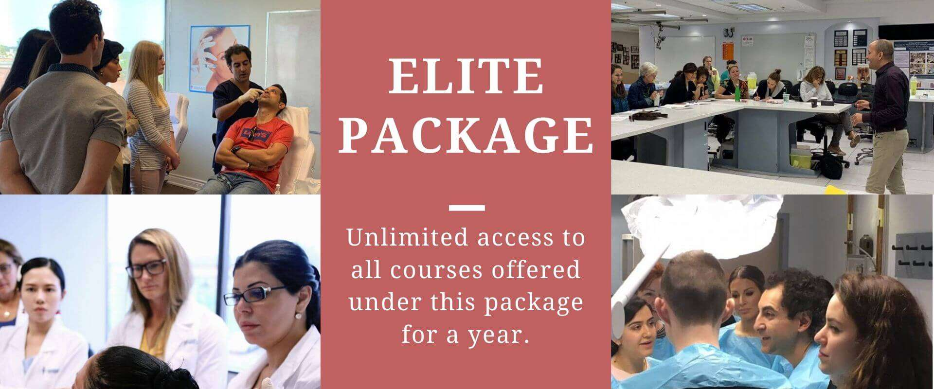 Elite package, Basic Botox and Filler, Advanced botox and filler, PRP and Mesotherapy, CBAM, Certificate, Aesthetic medicine, Injectables, Facial anatomy cadaver lab, Skin treatments, Chemical peel, Aesthetic Business