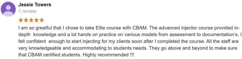 CBAM Review, Injectables, Botox and Filler course, Anatomy Cadaver lab,