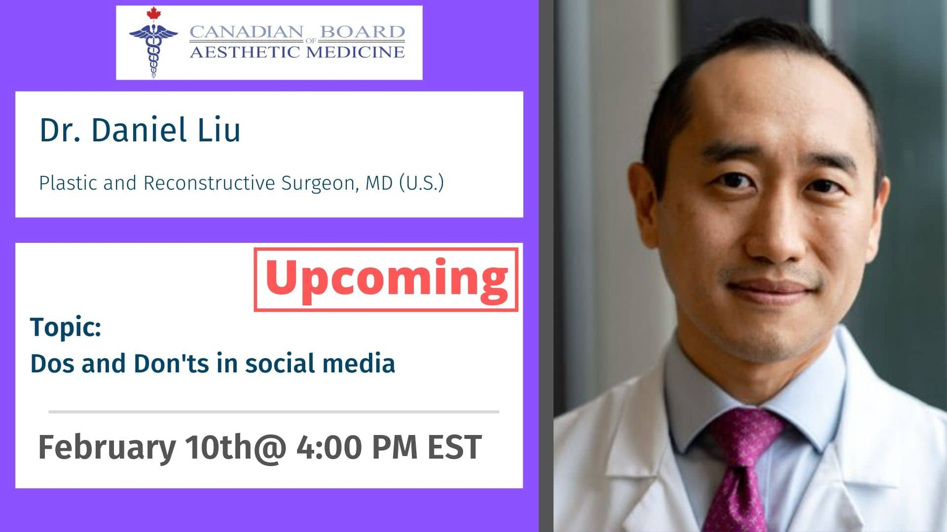 Dr. Liu, Injectables, CBAM, Botox, Filler, Cadaver, Lab, Education, Master, Basic, Advance