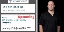 Dr. Glenn Vallecillos, Injectables, CBAM, Botox, Filler, Cadaver, Lab, Education, Master, Basic, Advance